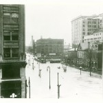 This was the view of Fourth Street looking east from the Arcade building.