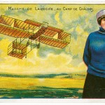 Known as Baroness de Laroche, Elise de Laroche (1882–1919) was a balloonist and the first woman with a pilot's license in 1909 at Chalons, France.
