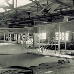The Wright Model G Flyer Aeroboat, under construction in the Wright Company factory. Grover Loening designed the Model G for the Wright Company.