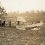 The Wright Model G Aeroboat being assembled near the Miami River.