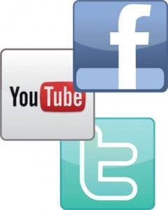 facebook youtube twitter logos