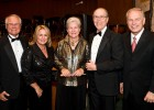 (L to R): WSU President David R. Hopkins, Angelia Hopkins, Vicki Pegg, Robert McGriff, and Gov. Ted Strickland at ArtsGala 2010.