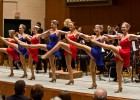 "Dance students accompany the wind symphony's performance of ""Stars and Stripes Forever."""