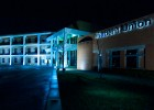 Wright State University's Student Union lit blue
