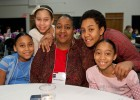 Financial aid adviser Denise Thomas and her four children enjoyed their time together on campus during Take Our Daughters and Sons to Work Day.