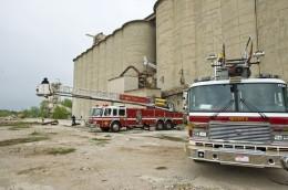 Photo of fire trucks at Calamityville.