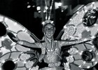 Tiffany Fridley, seen here in a black and white photo wearing a butterfly costume for the SpectroMagic parade.