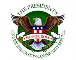 Photo of the President's Higher Education Community Service Honor Roll logo.