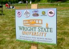 Photo of the team sign for the Wright State University robotic lawnmower team.