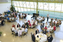Photo of guests in attendance at President Hopkins' report to community at Lake Campus.
