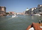 Photo of the view from the boat in Venice, Italy.
