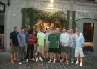 Photo of the Wright State men's basketball team posing for a group picture in Italy.