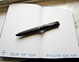 Close-up photo of a Livescribe smartpen.