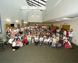 Group photo of students and teachers who participated in French Immersion Day 2009.