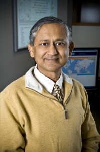 Photo of Amit Sheth, Ph.D., leader of a collaborative team of Wright State and Ohio State University researchers who are developing new ways to extract meaningful information from hundreds of thousands of Twitter and other messages as they are posted during emergencies.