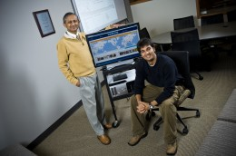 Photo of Amit Sheth, Ph.D. and Hemant Purohit, Prof. Sheth's Ph.D. advisee.