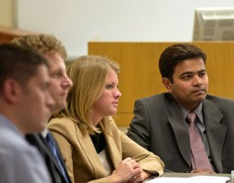 Photo of Wright State MBA students in class.