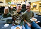 Photo of two veteran students at Wright State's Veterans Appreciation Day.