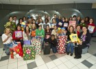 Group photo of some of the Wright State staff members who donated toys.