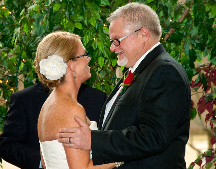 Photo of Ran and Mary Raider during their wedding ceremony.