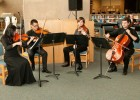 Photo of a student string quartet