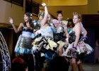 Photo of Wright State students striking a pose on the runway.