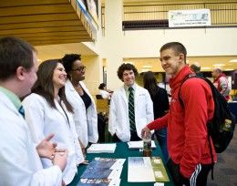 Photo of Wright State student at Path to Health Professions Day