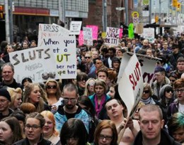 "Photo of a ""slutwalk"""