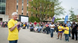 Photo of George Frey at opening ceremony for Relay for Life 2012.