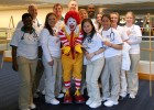 Photo of a group of students with Ronald McDonald