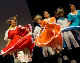 Photo of a dance performance from the 2011 International Friendship Affair at Wright State.
