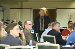 Photo of Dr. Dwight Smith-Daniels at the Firs Annual Supply Chain Conference