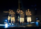 Photo of svereral Wright State students performing at the 13th Annual Harley E. Flack Greek Step Show.
