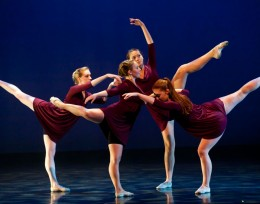 Photo of dancers in purple