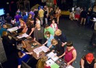 Overhead shot of the portfolio event