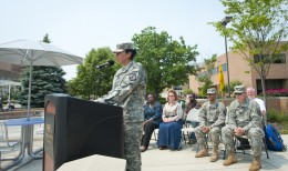Photo of Lieutenant Colonel Maria Emery, a professor of military science and the Commander of the Army ROTC at Wright State.