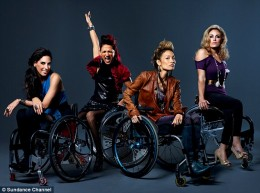 Photo of the four stars of the Sundance Channel's new docu-series, Push Girls.