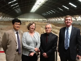 Photo of Yi Li, Carol Loranger, Stephen Foster and Steven Angle
