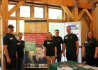 Photo of Wright State MBA students at Aullwood Farm.