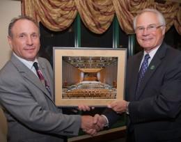 Photo of Neal Gittleman and President Hopkins