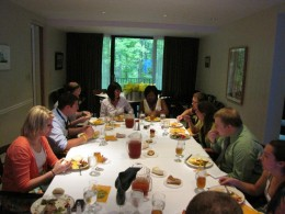 Photo of a dinner from the First Annual Student Philanthropy Council's Graduation Fund Donor Appreciation Dinner during Senior Week.