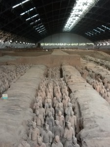 Photo of the Terracotta Warriors Museum near Xian.