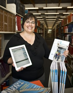 Photo of Jane Wildermuth, head of the Wright State libraries' digital services