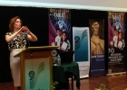 Photo of Sue Polanka giving a presentation in Malaysia.
