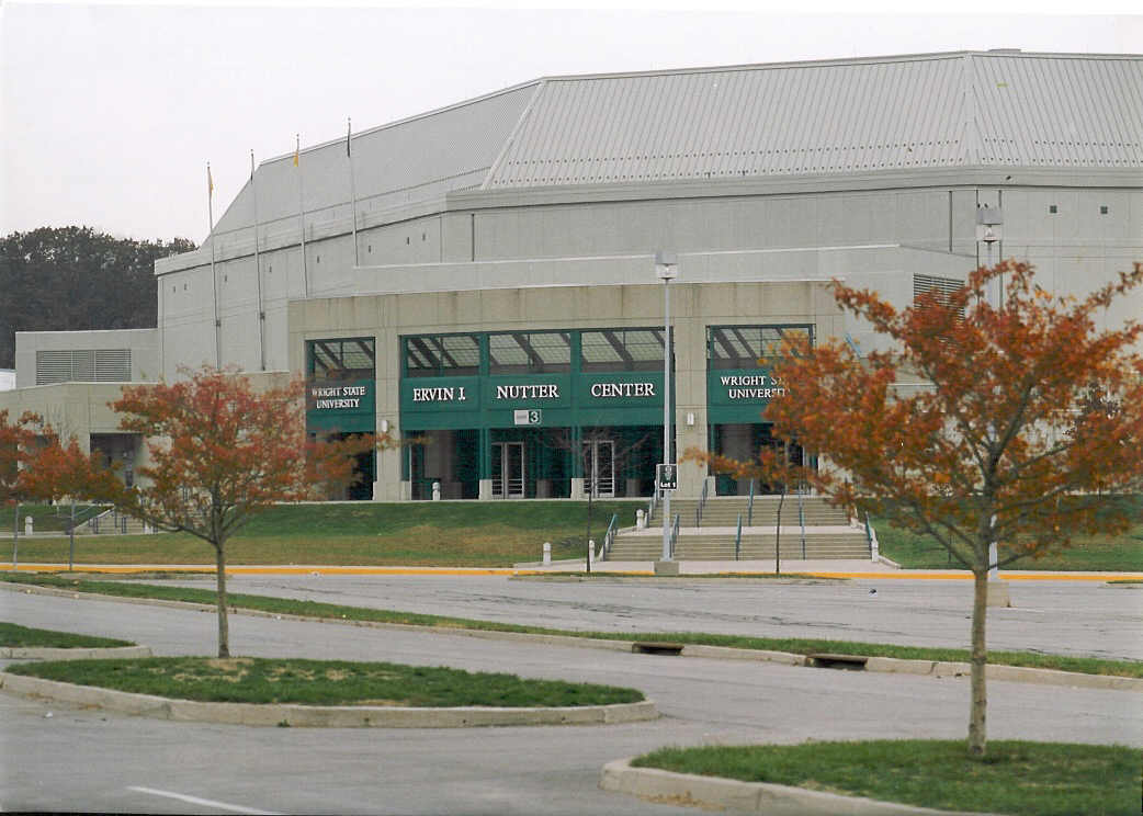 Exterior photo of the Wright State University Nutter Center