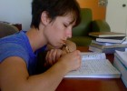 Photo of Lara Donnelly writing.