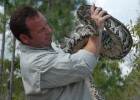 Photo of Shawn Heflick, a Wright State University graduate who stars in Python Hunters—a TV show that chronicles Heflick wrestling, capturing and saving giant pythons in the Florida Everglades.