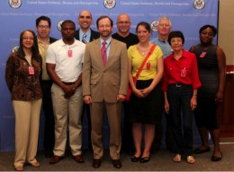 Photo of the Wright State sister city delegation.