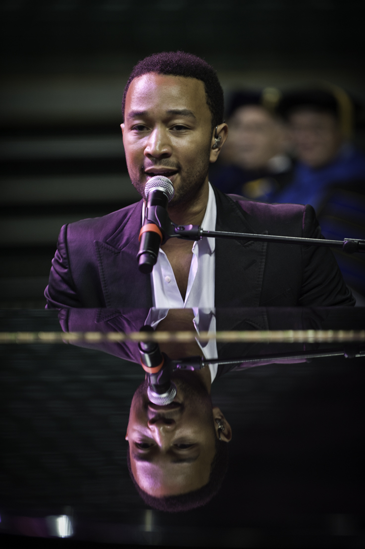 John Legend performed three songs at Wright State's Freshman Convocation 2012
