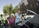 Utilizing shopping carts can be a winning strategy on Move-in Day.